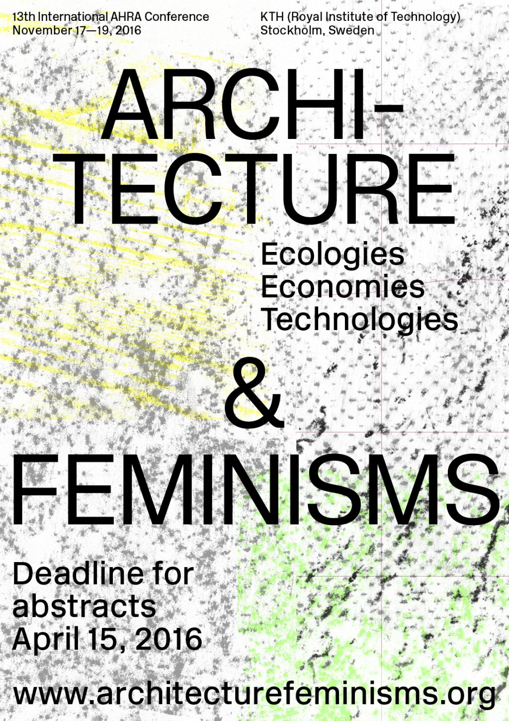 Sara Kaaman Architecture & Feminisms – conference identity