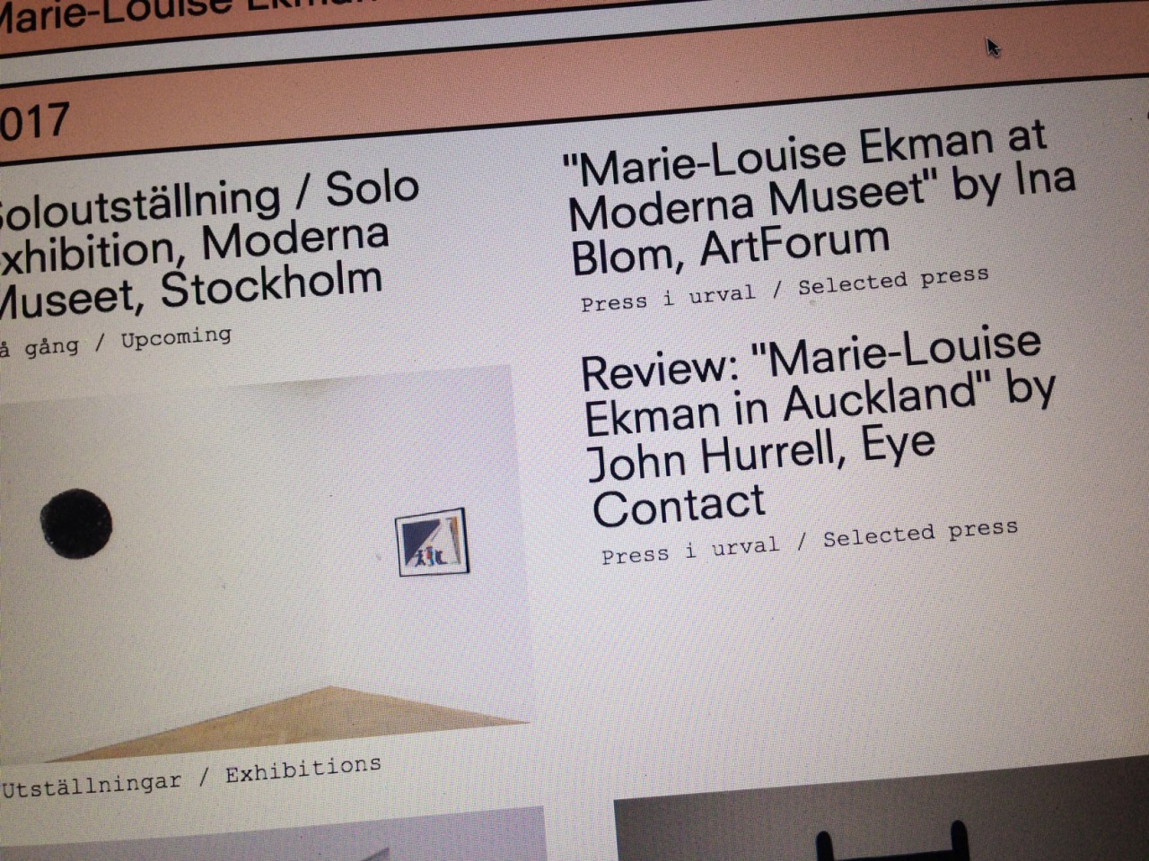 Sara Kaaman Marie-Louise Ekman – website